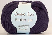 DEBBIE BLISS RIALTO DK 100% EXTRA FINE MERINO WOOL-50G Purple (40)