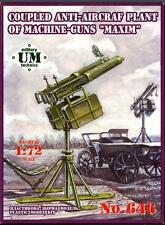 UM-MT Models 1/72 Soviet COUPLED MAXIN MACHINE GUNS ANTI-AIRCRAFT GUN