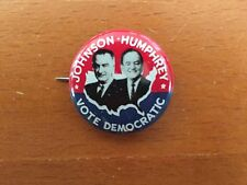 "1964 LYNDON JOHNSON & HUBERT HUMPHREY 1-1/8"" Jugate Campaign Pin Button"