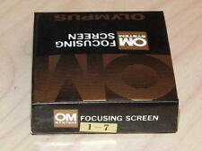 OLYMPUS OM FOCUSING SCREEN 1-7 NEW IN BOX