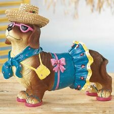 LIFESIZE Dachsie Out For A Stroll FIGURINE DOG Statue deluxe NEW Dachshund