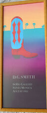 Original D.G.Smith Soho Gallery Poster Print Santa Monica 1981 cowboy southwest