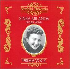 Zinka Milanov sings Verdi (CD, Jun-2007, Nimbus)