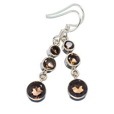 "Smoky Quartz 925 Sterling Silver Earrings 1 1/2"" Ana Co Jewelry E349915F"