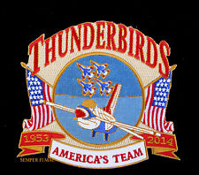 2014 US AIR FORCE THUNDERBIRDS F16 HAT PATCH DAVIS MONTHAN AFB TUCSON PIN UP WOW