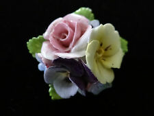 Vintage Dorothy Ann Hand painted Bone China  Porcelain Flowers Brooch England""