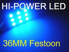 36 MM BLUE LED Festoon 9 LED Dome Interior Festoon Bulb SUPER BRIGHT 12V