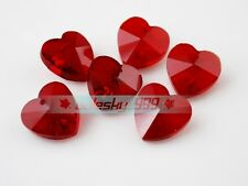 14mm Heart/Butterfly/Flower Faceted Crystal Glass Loose Hanging Pendants Beads