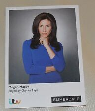 MEGAN MACEY-GAYNOR FAYE ITV EMMERDALE UNSIGNED CARD - MINT CONDITION