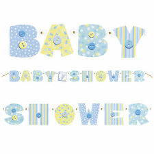 """61.5"""" Blue Stitching Baby Shower Party Cutout Jointed Letter Banner Decoration"""