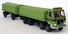 34404 EFE AEC Mark V Flatbed Lorry & Drawbar Trailer Vic Hallam Ltd 1:76 Diecast