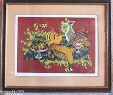 Picart Le Doux lithographie nature morte au faisan numérotée 1/250 signée