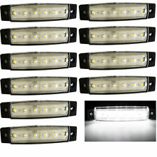 10x 12V 24V 6LED Side Marker Indicator Light Truck Trailer Lorry Clearence White