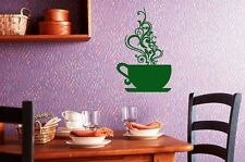 Wall Stickers Vinyl Decal Tea Coffee Cup Dinner For Kitchens ig188