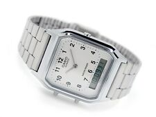 Casio AQ-230A-7B Vintage Silver Plated Dual-time Digital & Analog Watch AQ230A