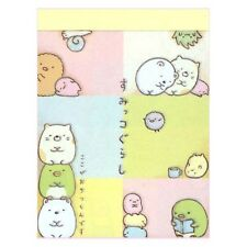 San-x Sumikko Gurashi animal in corner mini memo pad : A