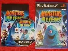 MONSTERS VS ALIENS ORIGINAL BLACK LABEL SONY PLAYSTATION 2 PS2 PAL