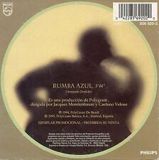 "CAETANO VELOSO ""RUMBA AZUL"" RARE SPANISH PROMO CD SINGLE / MARIA BEATHANIA"