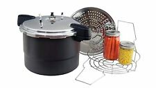 NEW COLUMBIAN F0730-2 20 QUART ALUMINUM PRESSURE CANNER COOKER STEAMER FULL KIT