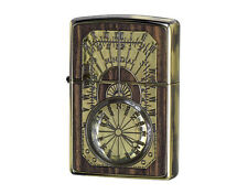 Zippo Antique Sundial / Wood Inlay / RARE Model from Japan !