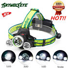 10000Lm 3X XML T6+2R5 LED Headlight Headlamp Flashlight 18650 Torch Light Lamp