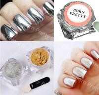 1g/box Mirror Powder Gold Silver Pigment Nail Glitter Nail Art Chrome Decoration