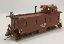HO BRASS DIVISION POINT SANTA FE ROUND ROOF WIG WAG CABOOSE #2029 FAC PAINTED