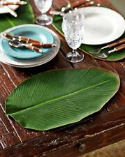 Design Ideas BaliHai Placemat Heliconia Large Green Leaf Textile Home Sushi