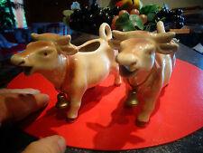 1 ancienne Petite Vache d 'Alpage en Céramique et sa Cloche pour Transhumance