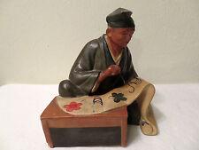 Vintage Hakata Japanese Doll Man Designing an Obi for a Kimono