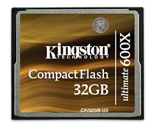 32GB CF KINGSTON ULTIMATE 600x COMPACT FLASH 16 MEMORY 7d 5d Dslr video U2 card