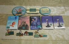 Lot of 13 WDCC Buttons Pins Evil Queen Pooh Timon Mickey Tinkerbell Lady Tramp