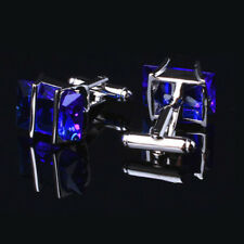 New Charm Royal Blue Metal Mens's Wedding Party Gift Shirt Cuff Links Cufflinks