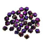 Free Shipping 100pcs loose purple glass crystal bicone spacer beads 4mm