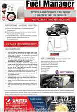 TOYOTA LAND CRUISER 200 SERIES 3 BAT DIESEL WATER SEPARATOR KIT. FUEL MANAGER.