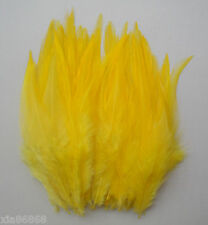 DIY natural rooster feather 10-15 cm / 4-6 inches 20pcs (yellow) free shipping