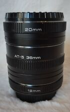 Auto extension tubes for Minolta MD. 12mm, 20mm & 36mm . vivitar at 5 AT5 JAPAN
