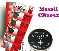 CR2032 MAXELL BATTERY 3V LITHIUM BUTTON COIN CELL MADE IN JAPAN 5 pcs CALCULATOR