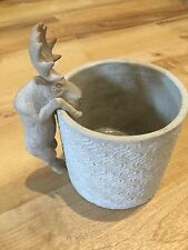 Parlane Stone Pot And Hanger Ornament (Moose) Planter Plant Decorative Garden