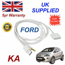 FORD KA 1529487 3GS 4 4s iPhone iPod USB & Aux Cable White