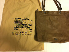 Burberry Soft Tote Leather Bag Black with dust bag