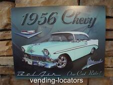 "1956 CHEVY BEL AIR CHEVROLET CAR GARAGE SCENE BANNER SIGN MURAL ART 12"" x 16"""