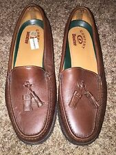 Dexter Comfort Men's Brown Leather Fringe Tassel Loafers Shoes Sz 10.5 M 303275