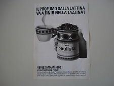 advertising Pubblicità 1968 CAFE' CAFFE' PAULISTA
