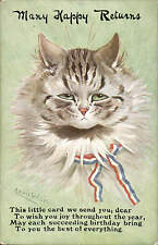 Louis Wain. Many Happy Returns. This Little Card... by W & K in Series # 3318.