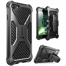 iPhone 7 4.7 Case, i-Blason Transformer [Kickstand] Holster Belt Clip BLACK