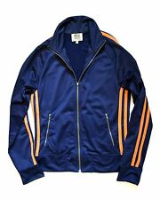 JUICY COUTURE $158 DESIGNER SPORT TRACKSUIT WOMENS JACKET SMALL STRIPED BLUE ZIP