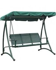 Garden Triple Swing Seat Replacement Sun Canopy In Green