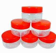 Sunpet Food Storage Canisters, Plastic, Red, 50 ml, Small, Pack of 6