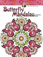 Adult Coloring: Creative Haven Butterfly Mandalas Coloring Book by Dianne...